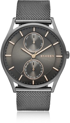 Skagen Holst Gray Stainless Steel Men's Watch w/Mesh Band