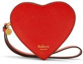 Mulberry Heart Coin Zip Purse Black Small Printed Grain