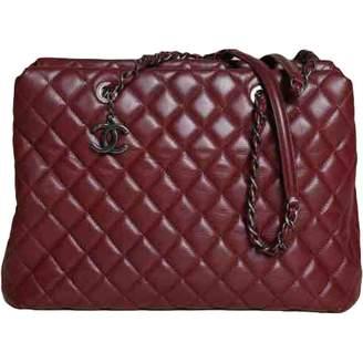 Chanel Grand shopping Burgundy Leather Handbags