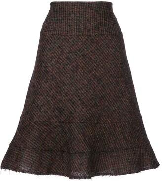 Junya Watanabe Comme Des Garçons Pre Owned Raw Edge Skirt