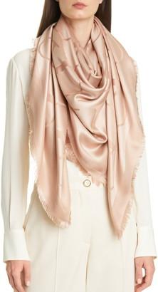Valentino VLOGO Silk Blend Scarf