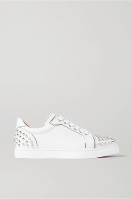 Christian Louboutin Vieirissima Spikes Embellished Leather Sneakers