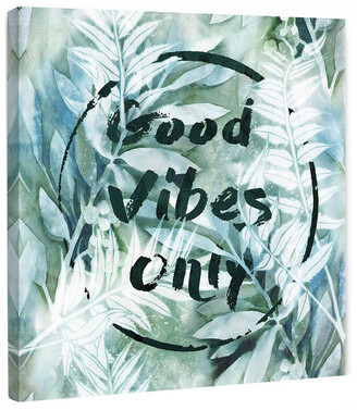 Marmont Hill Good Vibes Only Vi Painting Print On Wrapped Canvas