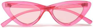 Adam Selman X Le Specs The Last Lolita Cat-eye Acetate Sunglasses