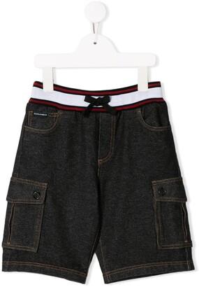 Dolce & Gabbana Kids Cargo Denim Shorts