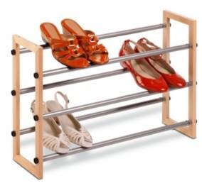 Honey-Can-Do 3-Tier Expandable Shoe Rack