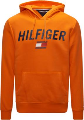 Tommy Hilfiger Dwayne Pullover Hoodie Sweatshirt - Orange Peel