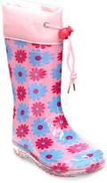 Jelly Beans Pink Polka Dot Rain Boot