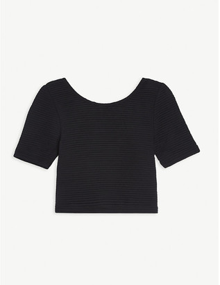 LES COYOTES DE PARIS Madelyn ribbed nylon crop top 8-18 years