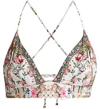 Camilla Lace-Back Triangle Bikini Top