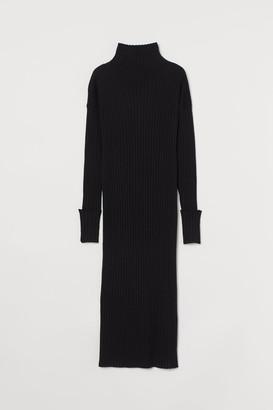 H&M Turtleneck Wool Dress - Black