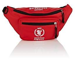 Balenciaga Men's Embroidered Belt Bag - Red