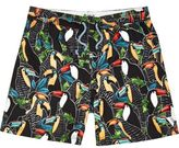 River Island Boys black toucan print swim shorts