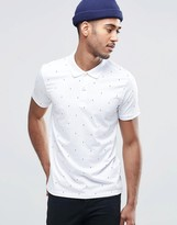 Jack & Jones Short Polo With Lightning Print