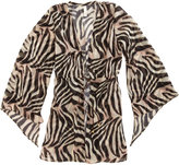 PILYQ Zebra Print Cover-up