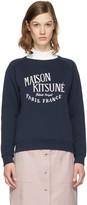 MAISON KITSUNÉ Navy Logo Pullover