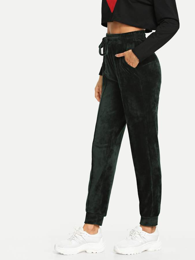 cd9c27c0cc3b Green Elastic Waist Women's Pants - ShopStyle