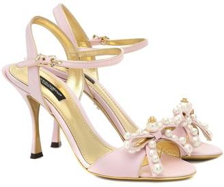 Dolce & Gabbana Keira 85 embellished moirA sandals
