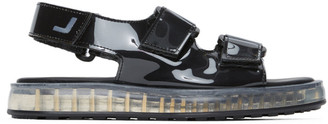 Joshua Sanders Black PVC Transparent Sole Sandals