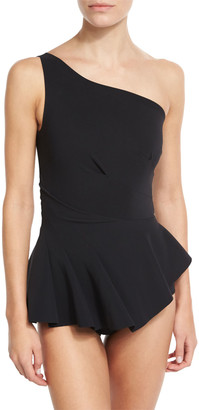 Chiara Boni Astrea One-Shoulder Swimdress, Black