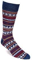 Daniel Cremieux Aztec Stripe Crew Dress Socks