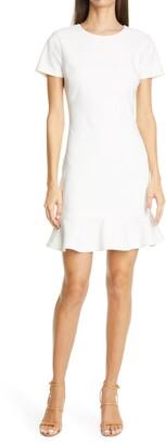 LIKELY Beckett Flounce Hem Short Sleeve Sheath Dress