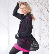 Gaiam Pointelle Knit Sweater