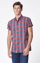 RVCA Akasa Plaid Short Sleeve Button Up Shirt
