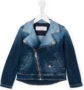 John Galliano gradient denim biker jacket - kids - Cotton/Polyester/Spandex/Elastane/Viscose - 8 yrs