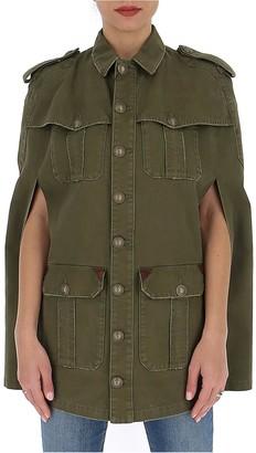 Saint Laurent Military Cape Jacket
