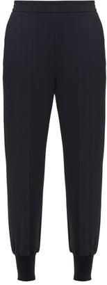 Stella McCartney Julia Cotton-crepe Trousers - Womens - Navy