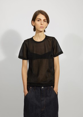 Junya Watanabe Nylon Smooth Short Sleeve Top