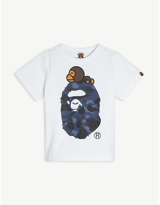 A Bathing Ape Baby Milo camouflage-print cotton T-shirt 2-9 years