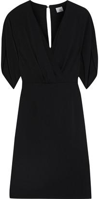 Iris & Ink Angelica Wrap-effect Washed-crepe Mini Dress