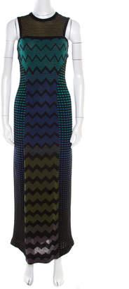 M Missoni Multicolor Patterned Jacquard Knit Sleeveless Maxi Dress S