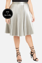 Fashion to Figure 24K Magic Gold Pleated Skirt