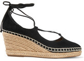 Schutz Giza Suede Wedge Espadrille Sandals