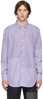 Engineered Garments Blue and White Striped Shirt
