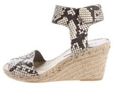 Vince Embossed Espadrille Wedges