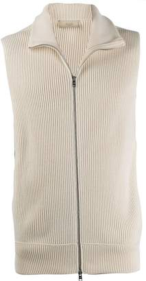 Maison Flaneur wool-knit sleeveless gilet