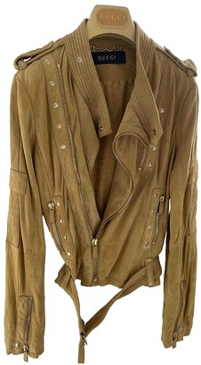 Gucci Beige Suede Leather jackets