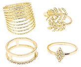 Charlotte Russe Plus Size Embellished Stackable Rings - 4 Pack