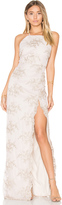Donna Mizani Embroidered Square Neck Gown