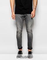 G Star G-Star BeRAW Jeans 3301-A Super Slim Fit Superstretch Gray Tint