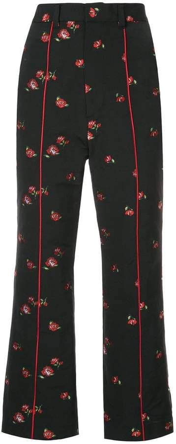 G.V.G.V. jacquard floral trousers