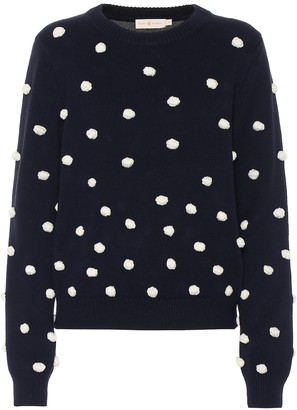 Tory Burch Bauble cotton and wool sweater