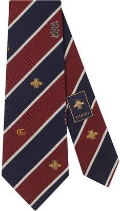 Gucci Stripe Print Motif Detail Tie