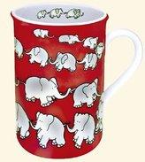 Konitz Caunitz Chain of Elephant Red mug 111 009 0017 (japan import)