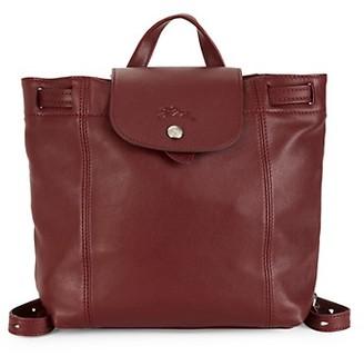 Longchamp Extra Small Le Pliage Leather Backpack
