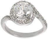 Journee Collection Tressa Collection Women's Round Cut Cubic Zirconia Engagement Ring in Sterling Silver